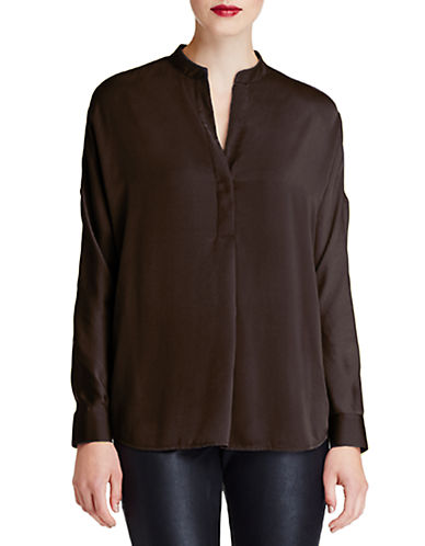 424 Fifth Petite Pull-Over Satin Blouse