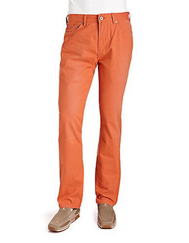BLACK BROWN 1826Slim Fit Cotton Corduroy Pants
