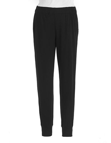 LORD & TAYLOR Jersey Pull-On Cropped Pants