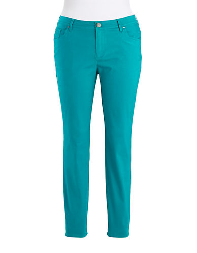 LORD & TAYLOR Plus Brushed Twill Pants