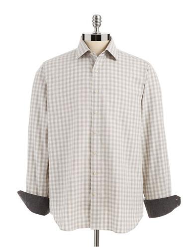BLACK BROWN 1826 LUXPlaid Flannel Button-down Shirt