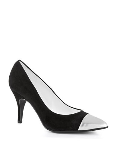 RON WHITE Macy Capped Toe Pumps