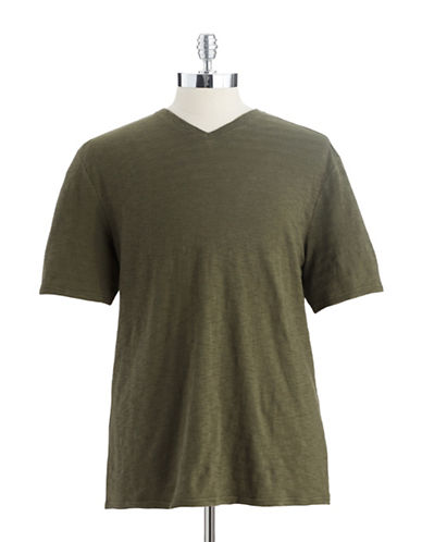 BLACK BROWN 1826Heathered V-Neck T-Shirt