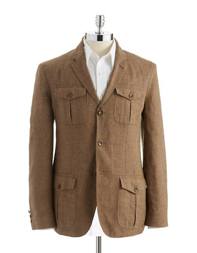 BLACK BROWN 1826 Linen Jacket