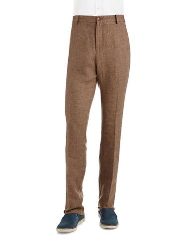 BLACK BROWN 1826Textured Linen Pants