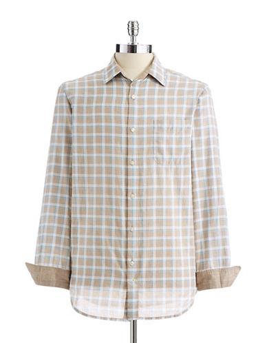 BLACK BROWN 1826Plaid Button-Down Shirt