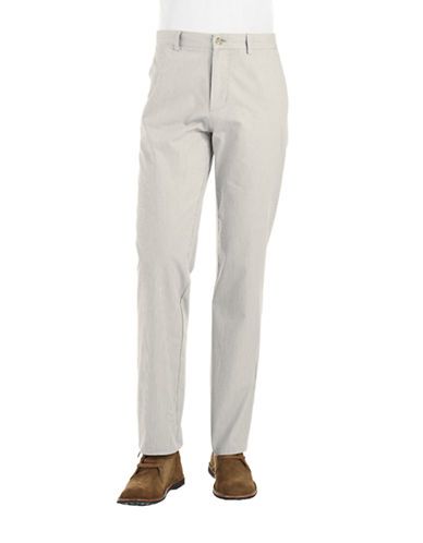 BLACK BROWN 1826Muted Striped Casual Pants