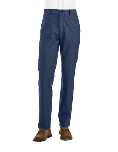 BLACK BROWN 1826Textured Casual Pants
