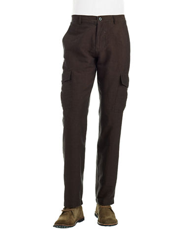 BLACK BROWN 1826 Linen Pants
