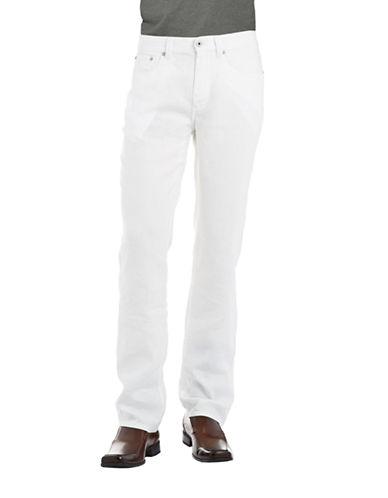 BLACK BROWN 1826Linen Straight Legged Pants