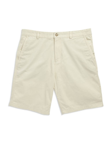 BLACK BROWN 1826Flat Front Twill Shorts