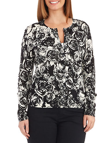 LORD & TAYLOR Patterned Cardigan