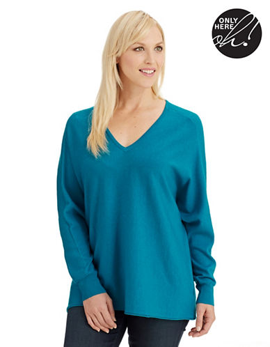 Lord & Taylor Plus V Neck Sweater