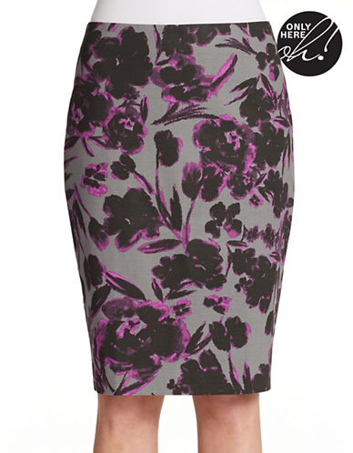 LORD & TAYLORPlus Floral Pencil Skirt