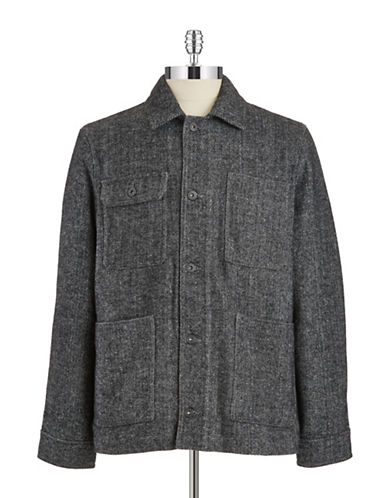 BLACK BROWN 1826 Wool Worker Jacket
