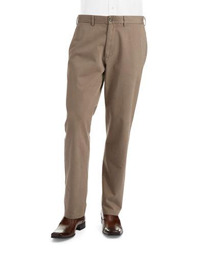 BLACK BROWN 1826Straight Legged Twill Pants