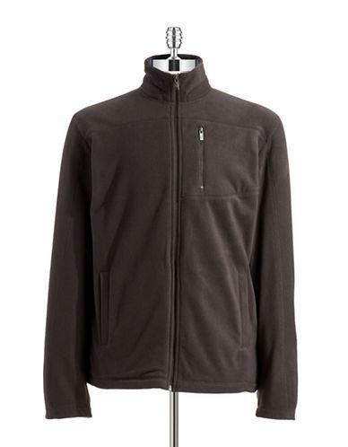 BLACK BROWN 1826Zip Up Fleece Jacket