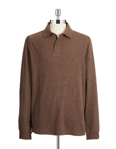 BLACK BROWN 1826 Long Sleeve Polo