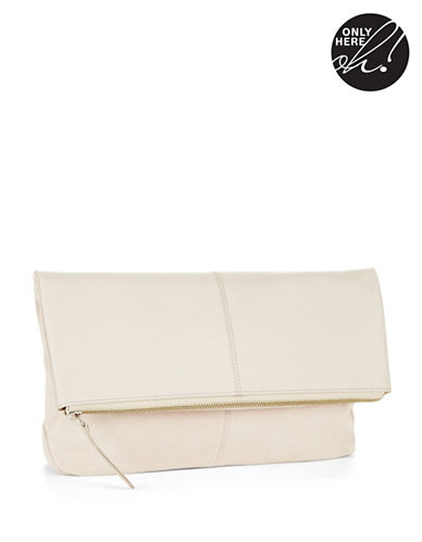 424 FIFTHFold Over Leather Clutch