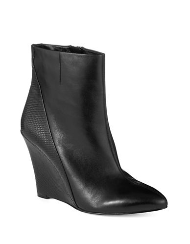 424 FIFTH Ellelia Leather Wedge Boots