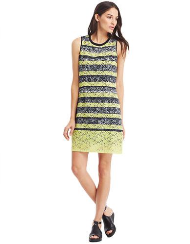 KENNETH COLE NEW YORKFleur Lace Mix Pattern Shift Dress