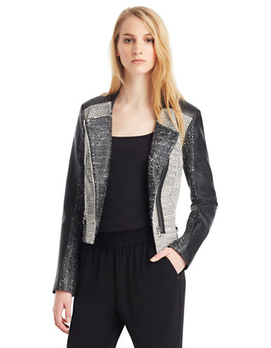 KENNETH COLE NEW YORK Adara Mixed Media Jacket