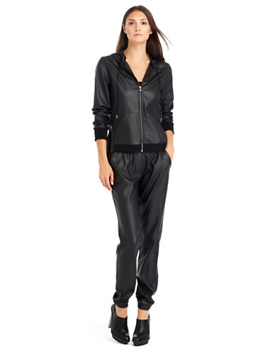 KENNETH COLE NEW YORKLexie Faux Leather Hoodie