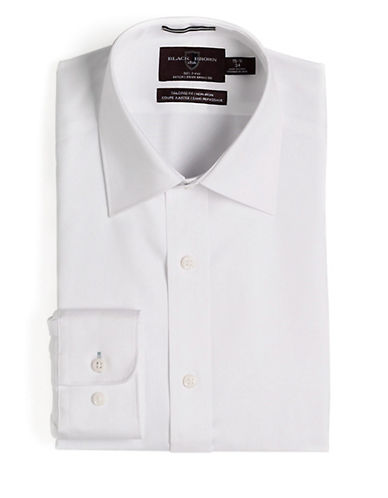 BLACK BROWN 1826Fitted Non-Iron Dress Shirt