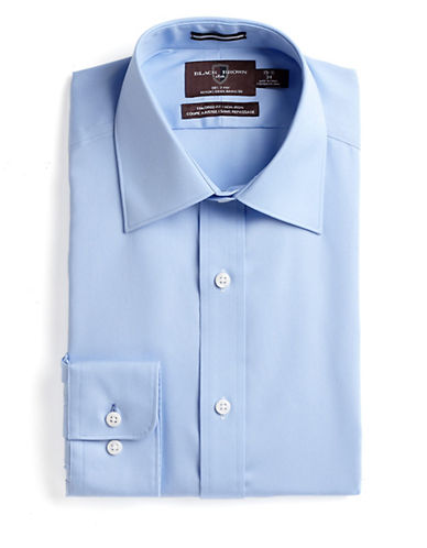 BLACK BROWN 1826Fitted Cotton Dress Shirt