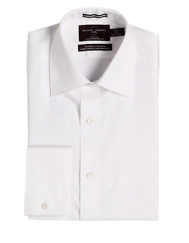 BLACK BROWN 1826Fitted Non-Iron French Cuff Dress Shirt