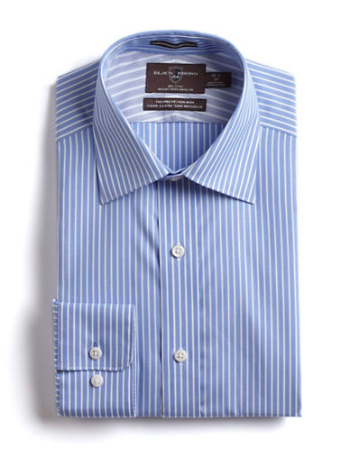 BLACK BROWN 1826 Fitted Striped Cotton Dress Shirt