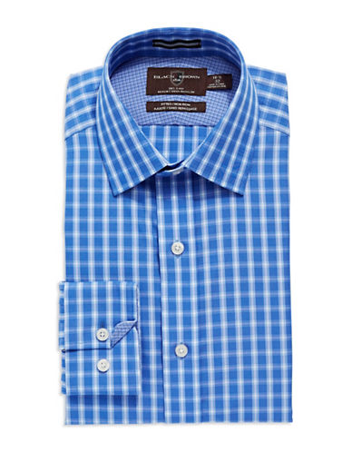 BLACK BROWN 1826 Fitted Plaid Button-Down Shirt
