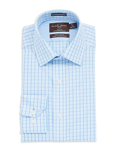 BLACK BROWN 1826 Fitted Checked Dress Shirt
