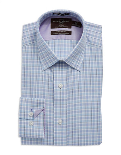 BLACK BROWN 1826 Cotton Fitted Checkered Dress Shirt