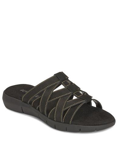 AEROSOLESWipstick Nubuck Strappy Slide Sandals