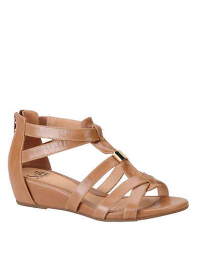 SOFFT Bernia Leather Wedge Sandals