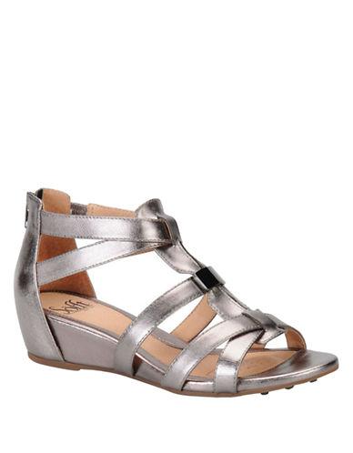 SOFFTBernia Leather Wedge Sandals