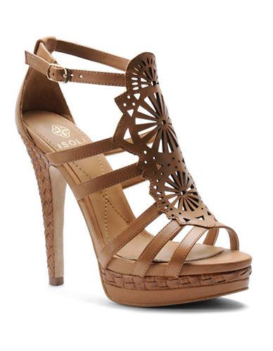 ISOLADelanna Leather Platform Heels