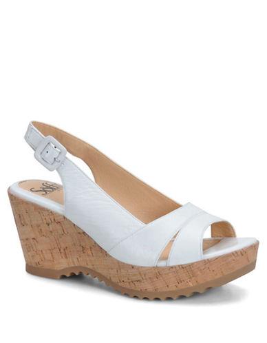 SOFFTSavina Leather Wedge Sandals