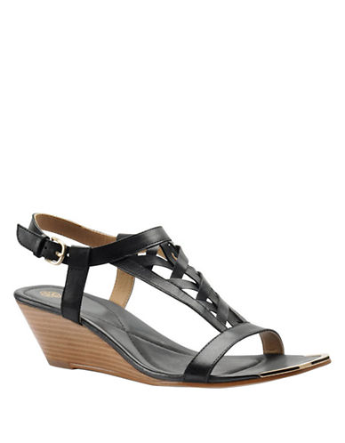 ISOLA Parvati Leather Wedge Sandals