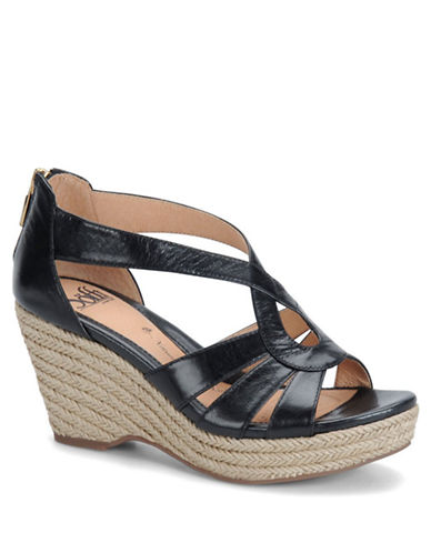 SOFFT Mena Leather Wedge Sandals