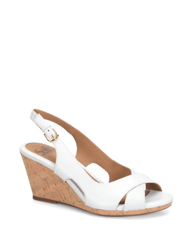 Sofft Cailean Leather Wedge Sandals
