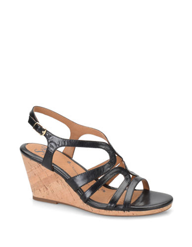SOFFTCorinth Leather Wedge Sandals