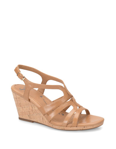 Sofft Corinth Leather Wedge Sandals