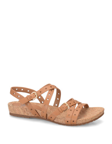 SOFFTMalana Perforated Leather Sandals