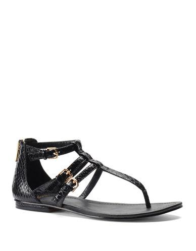 ISOLALeather Snake Print Gladiator Sandals