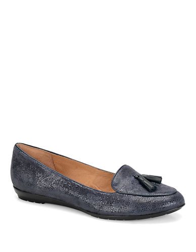 SOFFT Bryce Embellished-Suede Smoking Flats