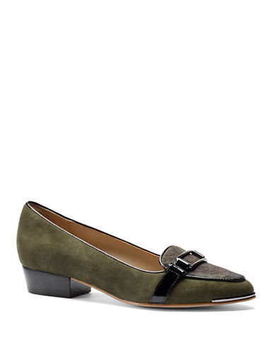 ISOLA Brenda Suede and Calf Hair Loafers