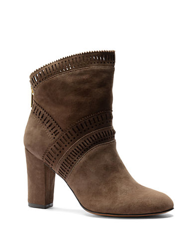 ISOLAEvoda Lasercut Suede Ankle Boots