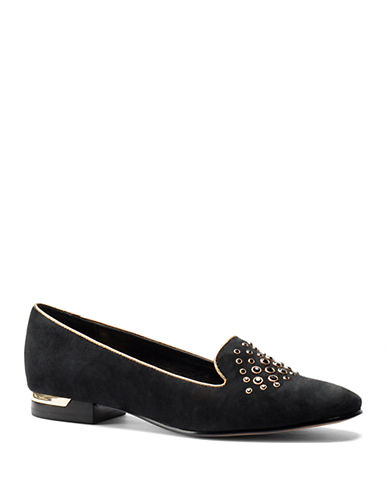 ISOLA Risa Embellished Suede Smoking Flats